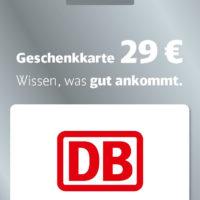 DB Geschenkkarte 29 Euro