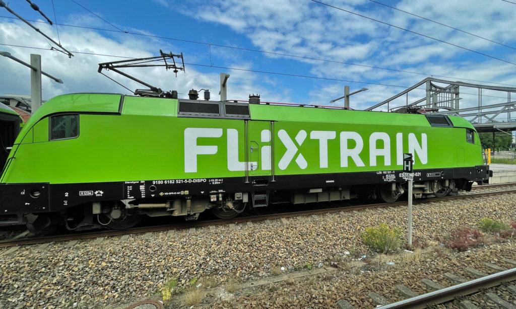 FlixTrain Zug am Gesundbrunnen Berlin