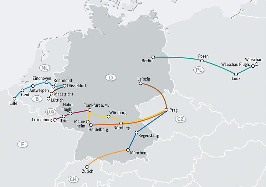 IC Bus Streckennetz