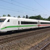 ICE Templin am Bahnhof Nennhausen, Brandenburg